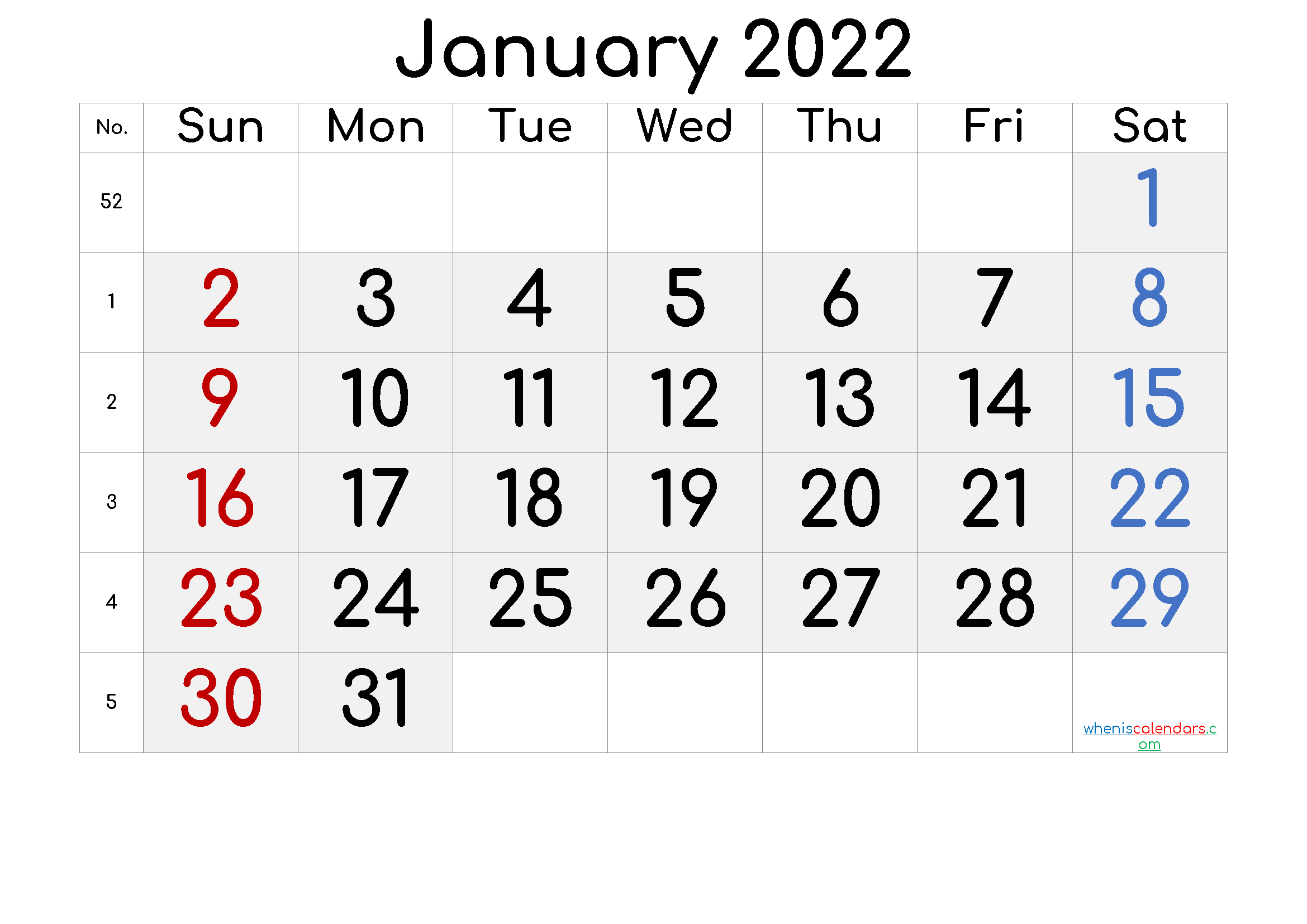 Printable January 2022 Calendar - 6 Templates in 2020 ...
