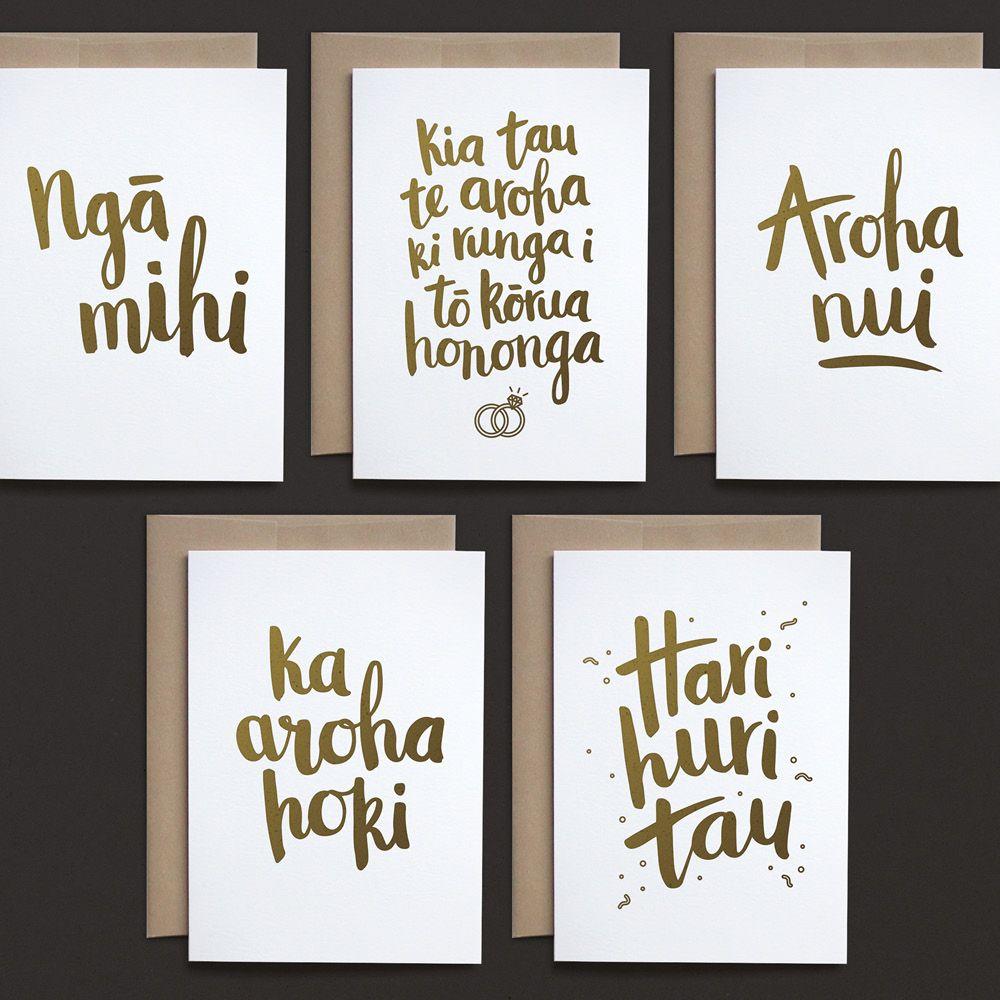 Te Reo Maori Greeting Cards Pack Wedding Greeting Cards