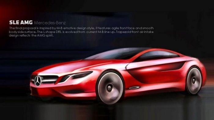 Design Study Of Mercedes Benz Sle Amg By Ed Pan At Coroflot Com Mercedes Benz Benz Mercedes