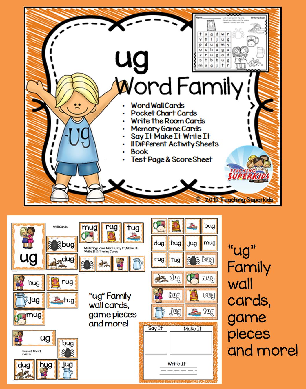 Ug Word Family Centers