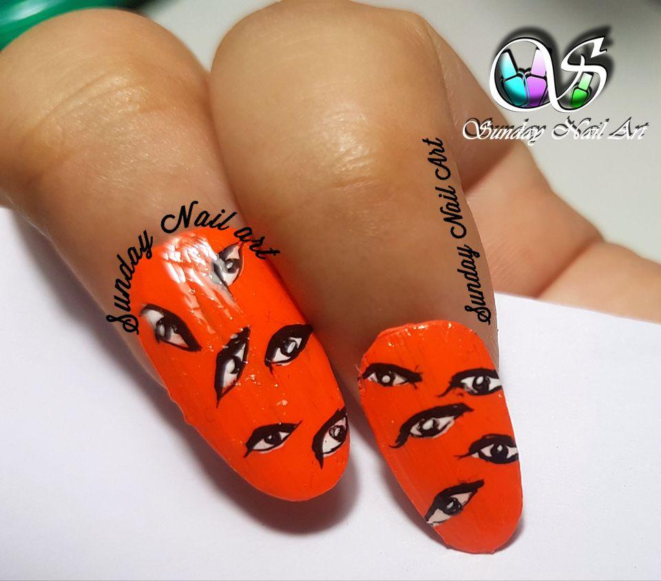 Eyes on YOU nail art by Sunday Nail Art. Video on YouTube . | Sunday ...