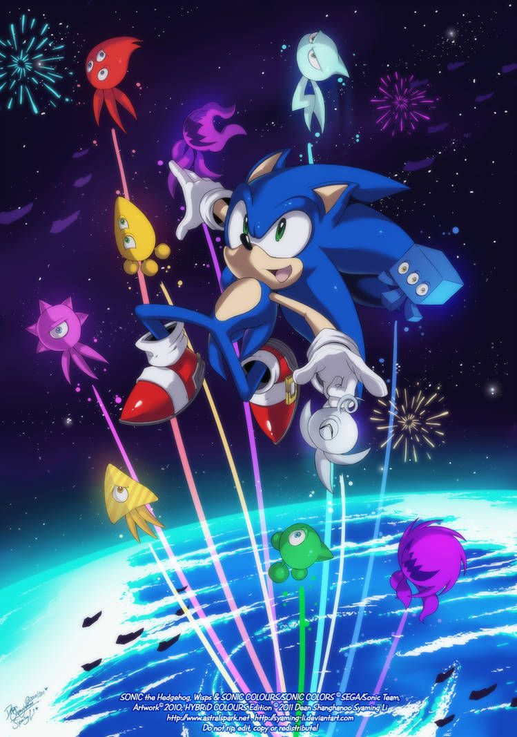 Sonic Colors Wallpaper By Syaming Li Reupload By Https Www Deviantart Com Ideafan128 On Deviantart Sonic Hedgehog Art Sonic Heroes