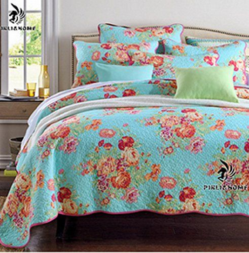 Luckey1 Multi Flower Print Quilt Cover Bedding Sets Queen Size ... : quilted bedspread sets - Adamdwight.com