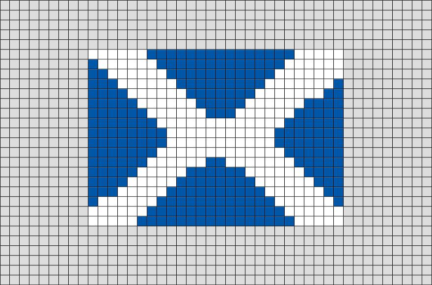 Flag of Scotland Pixel Art from BrikBook.com #Scotland #FlagofScotland #UnitedKingdom #Scottish #Edinburgh #pixel #pixelart #8bit Shop more designs at http://www.brikbook.com