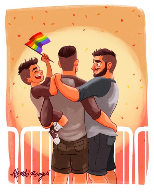 Gay kiss art print by markashkenazi