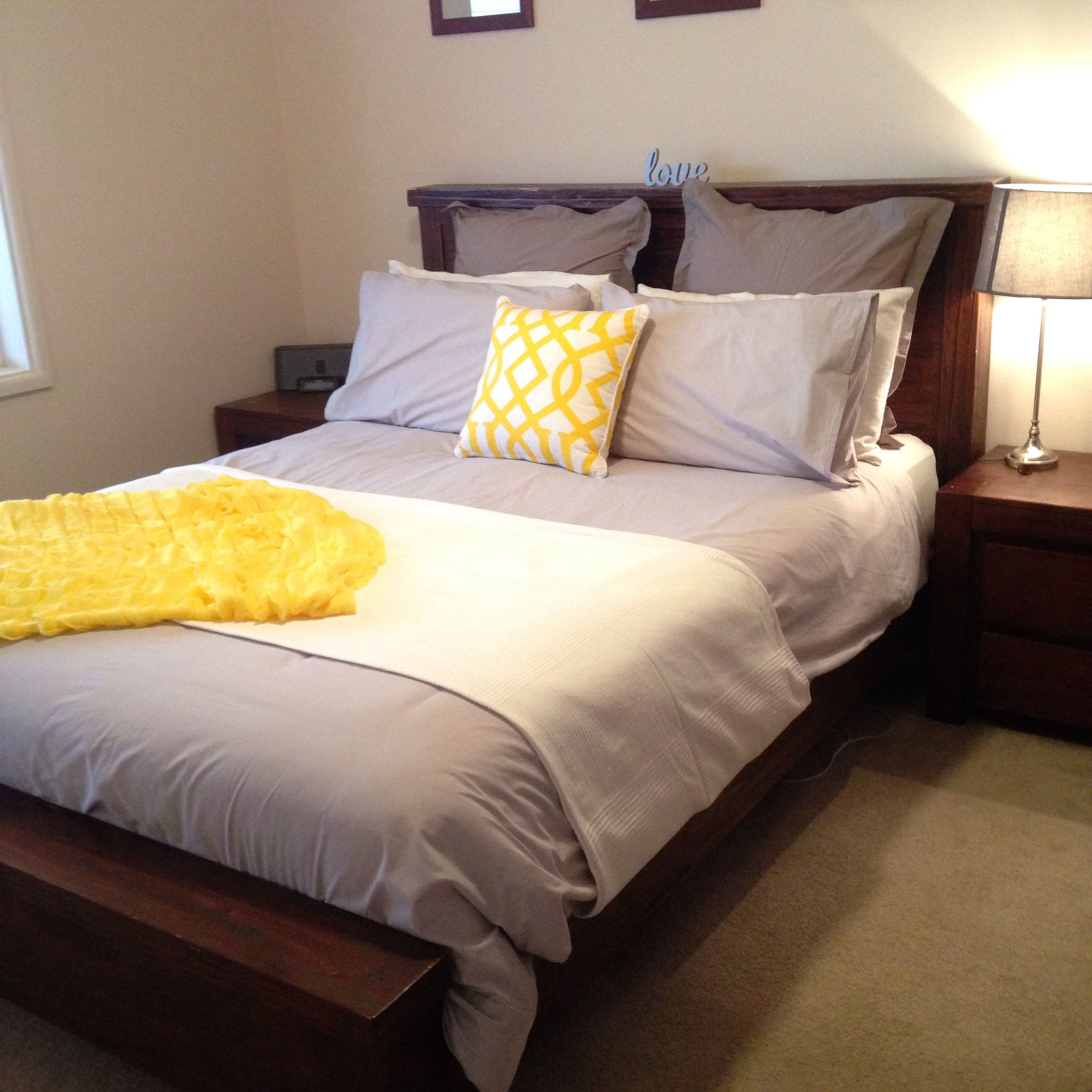 yellow and grey main bedroom | main bedroom, home, furniture