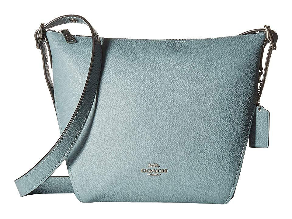 56bec050aff0c8 COACH Small Dufflette in Natural Calf Leather (Silver/Sage) Handbags.  Please Note