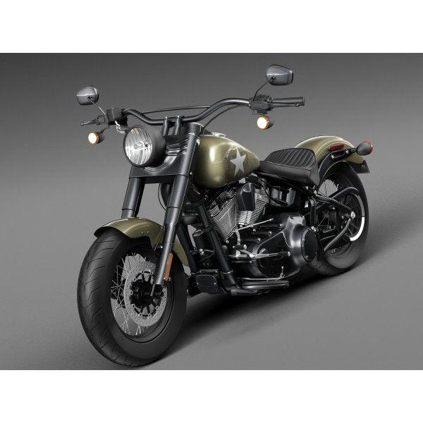 Turbo P Harley: Harley Davidson Softail Slim S Army Design 2016