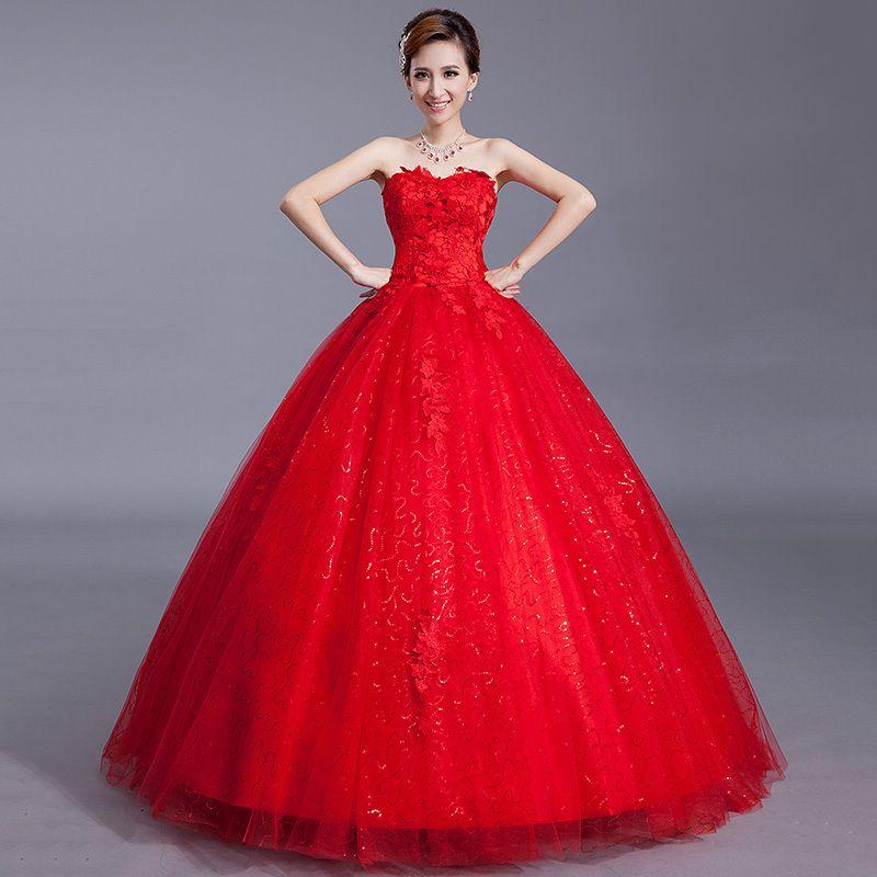 imagenes de vestidos de 15 años rojo , Buscar con Google