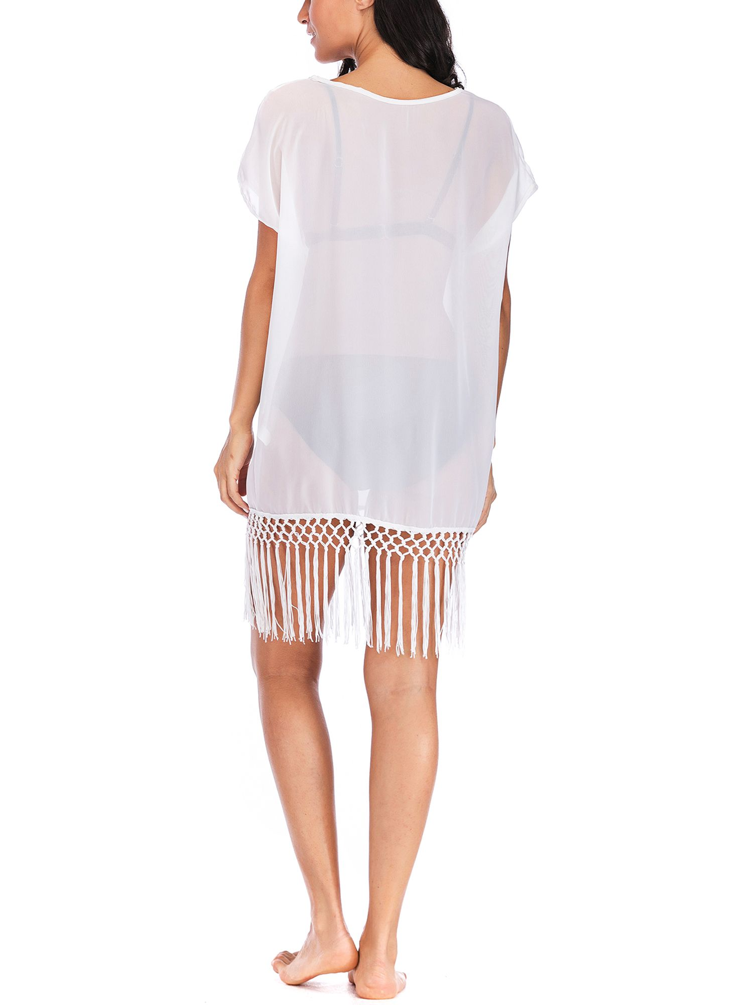 ded917fa8a LELINTA Women Swimwear Lounge Dress Bikini Tops Cover ups Lady Swimsuit  Chiffon Beach Shirt Dress Bathing Suit Loose Beach Coverups#Tops, #Bikini, # ups
