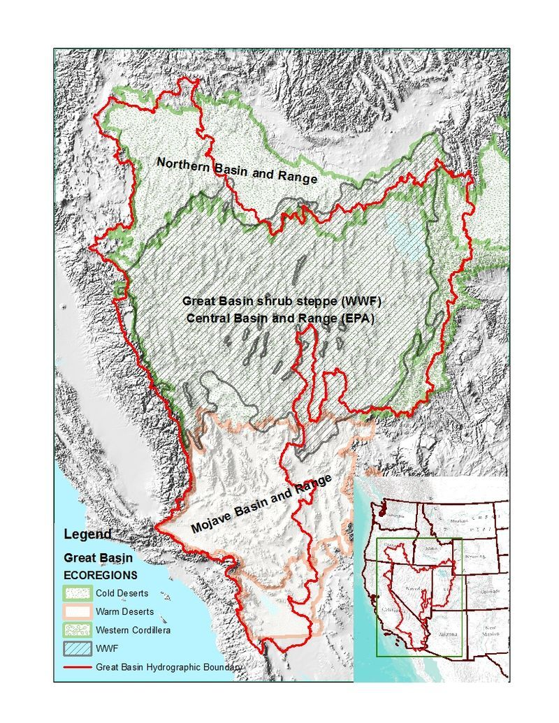 Image result for ecoregions great basin