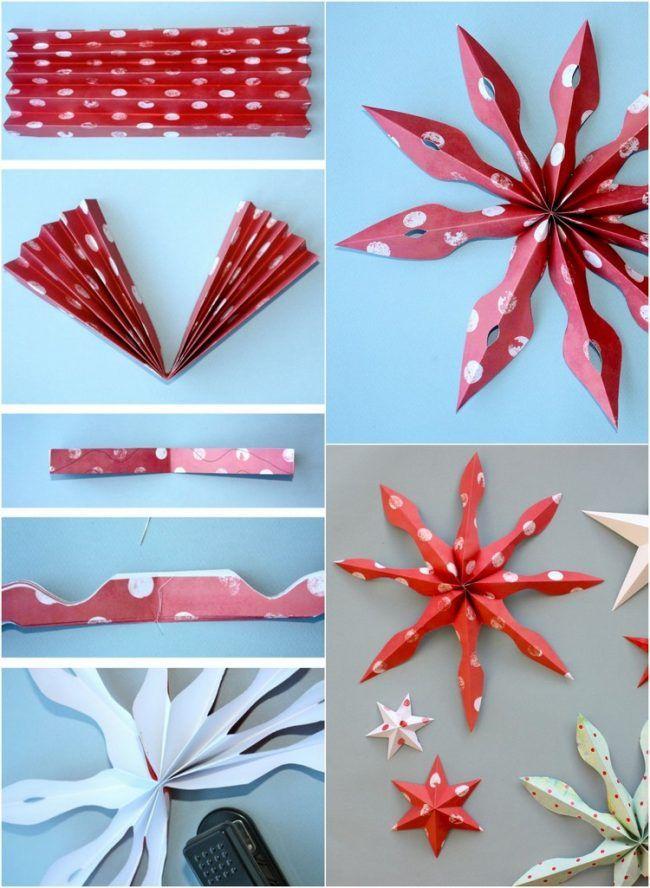 Weihnachtsdeko Selber Basteln weihnachtsdeko selber basteln papier schneeflocken anleitung