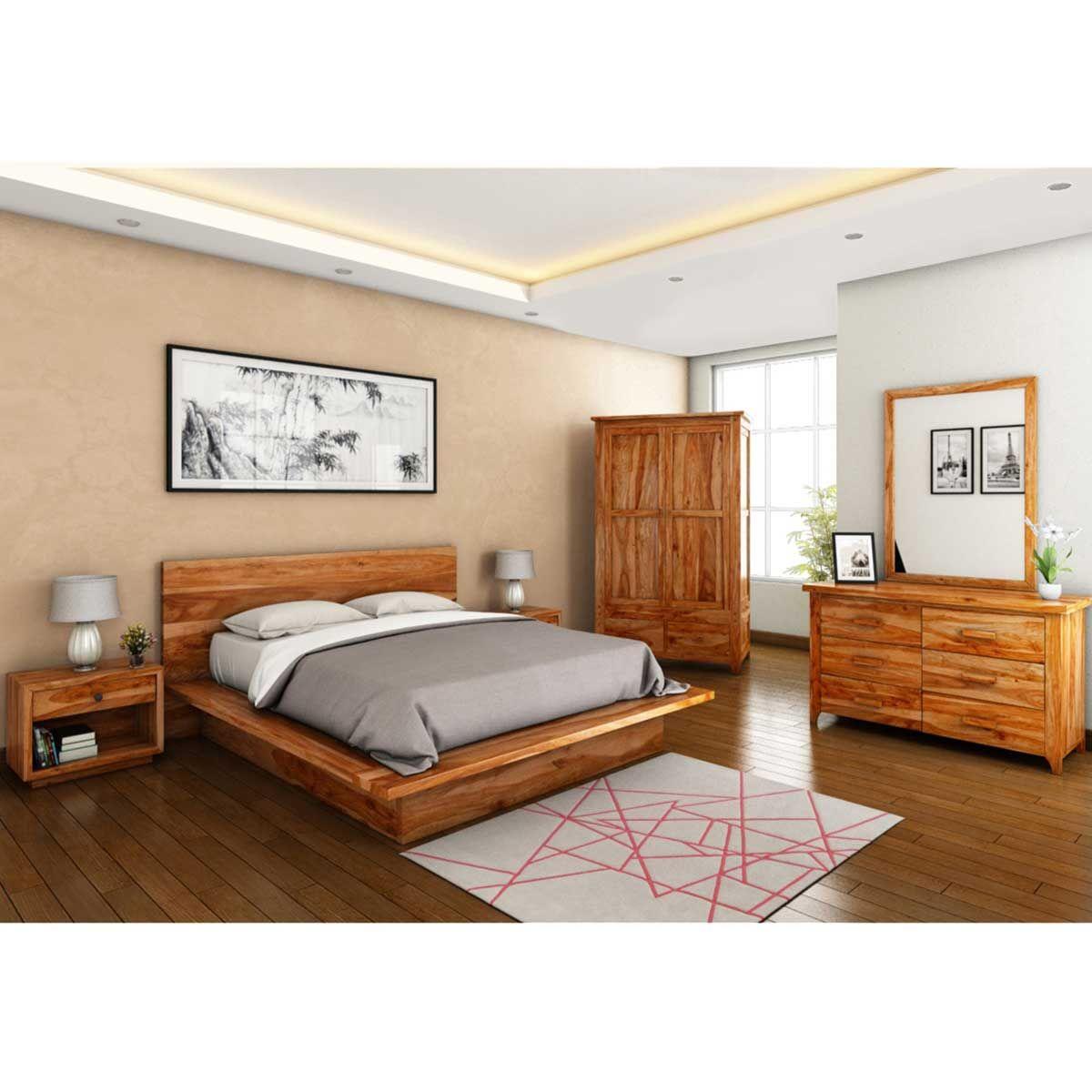 Delaware Solid Wood Platform Bed Frame: Delaware California King Size