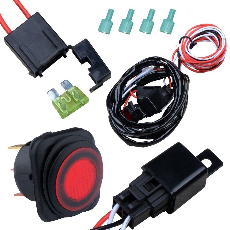 nilight off road atv jeep led light bar wiring harness kit 12v 40a  nilight off road atv jeep led light bar wiring harness kit 12v 40a relay on