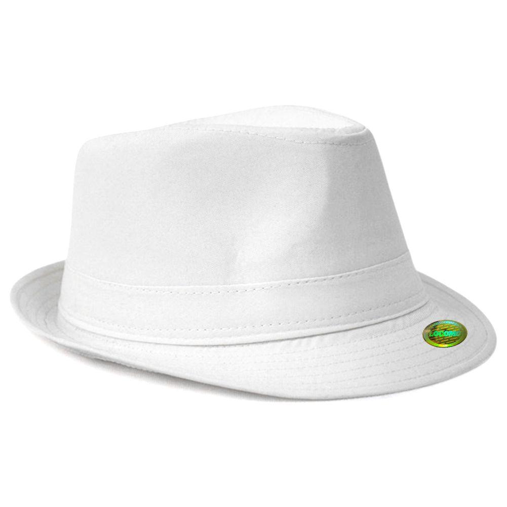 255b17e3540 Plain Color Fedora Short Upturn Brim Hat White