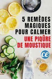 5 remèdes magiques pour calmer instantanément les piqûres de moustiques. 5 … – Broderie et Couture – Couture   – Exercice