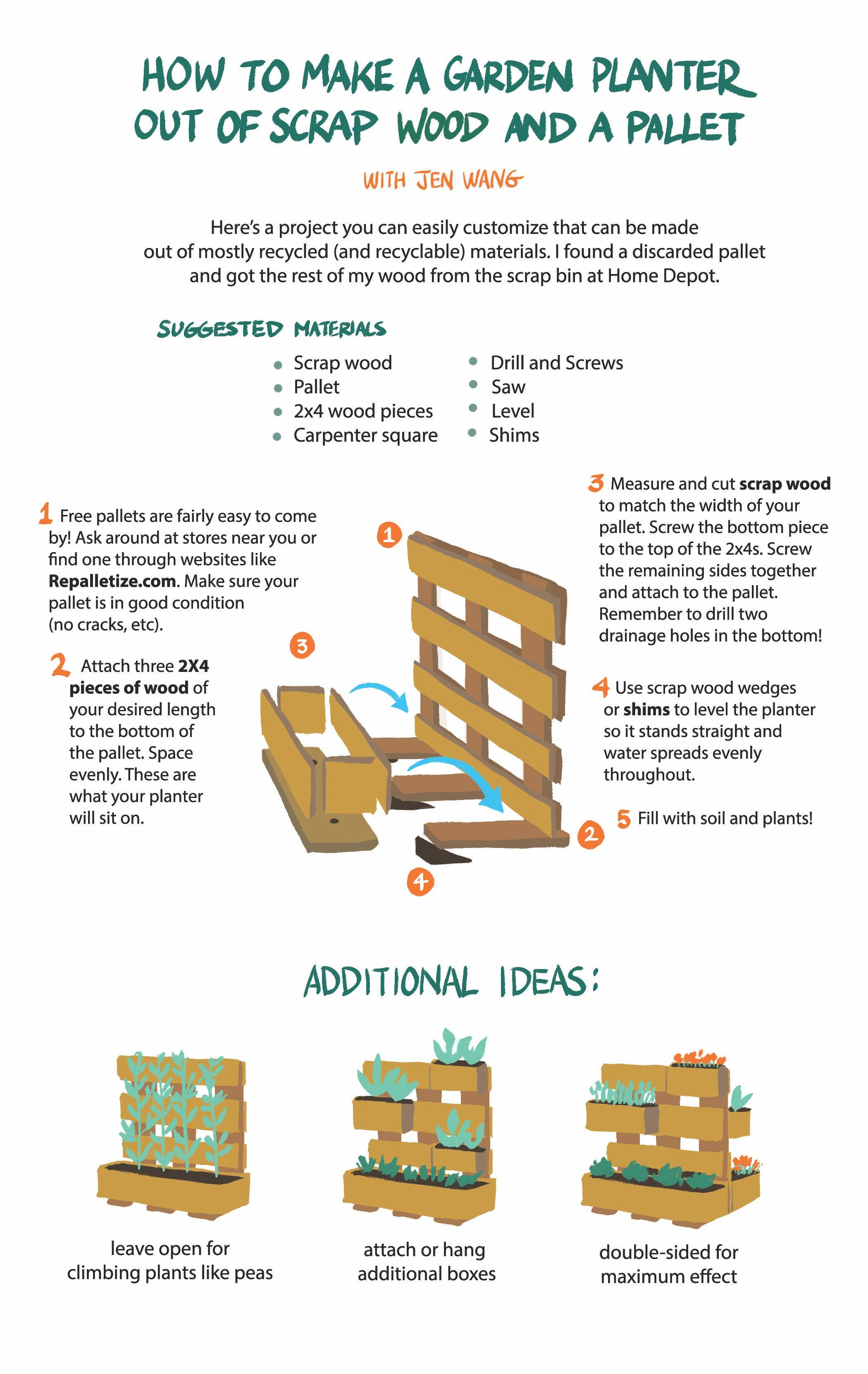 vertical garden diy ideas using a wooden pallet tutorial - Garden Ideas Using Wooden Pallets