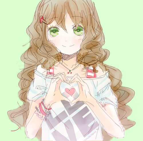 drawings of girls with curly hair
