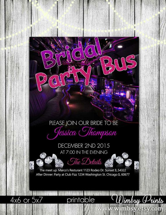bachelorette or birthday ticket party invitation girls night out, party invitations