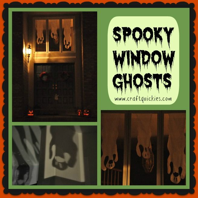 A super cute decorating idea - window ghost collage (from - cute halloween diy decorations
