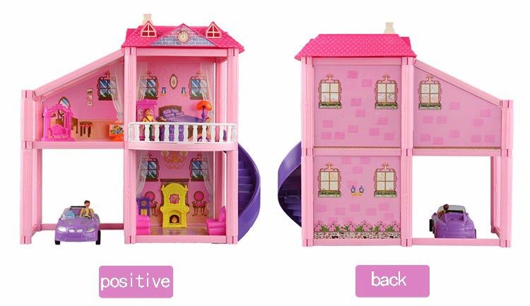 House Toys For Girls : Home furniture for dolls house diy girl dollhouse fantasy castle