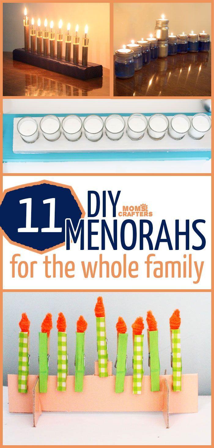 11 diy hanukkah menorahs hanukkah menorah and easy for Hanukkah crafts for adults