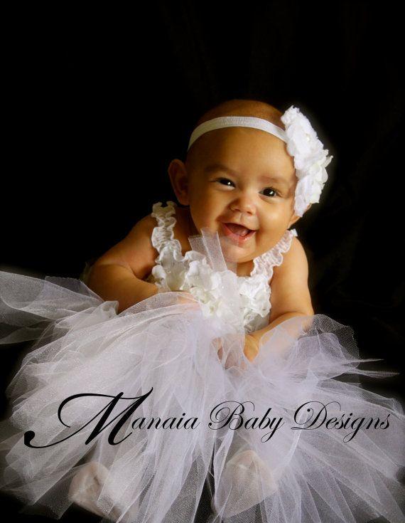 AMJ Dresses Inc White Infant Flower Girl Christening Dress Size 2t ...