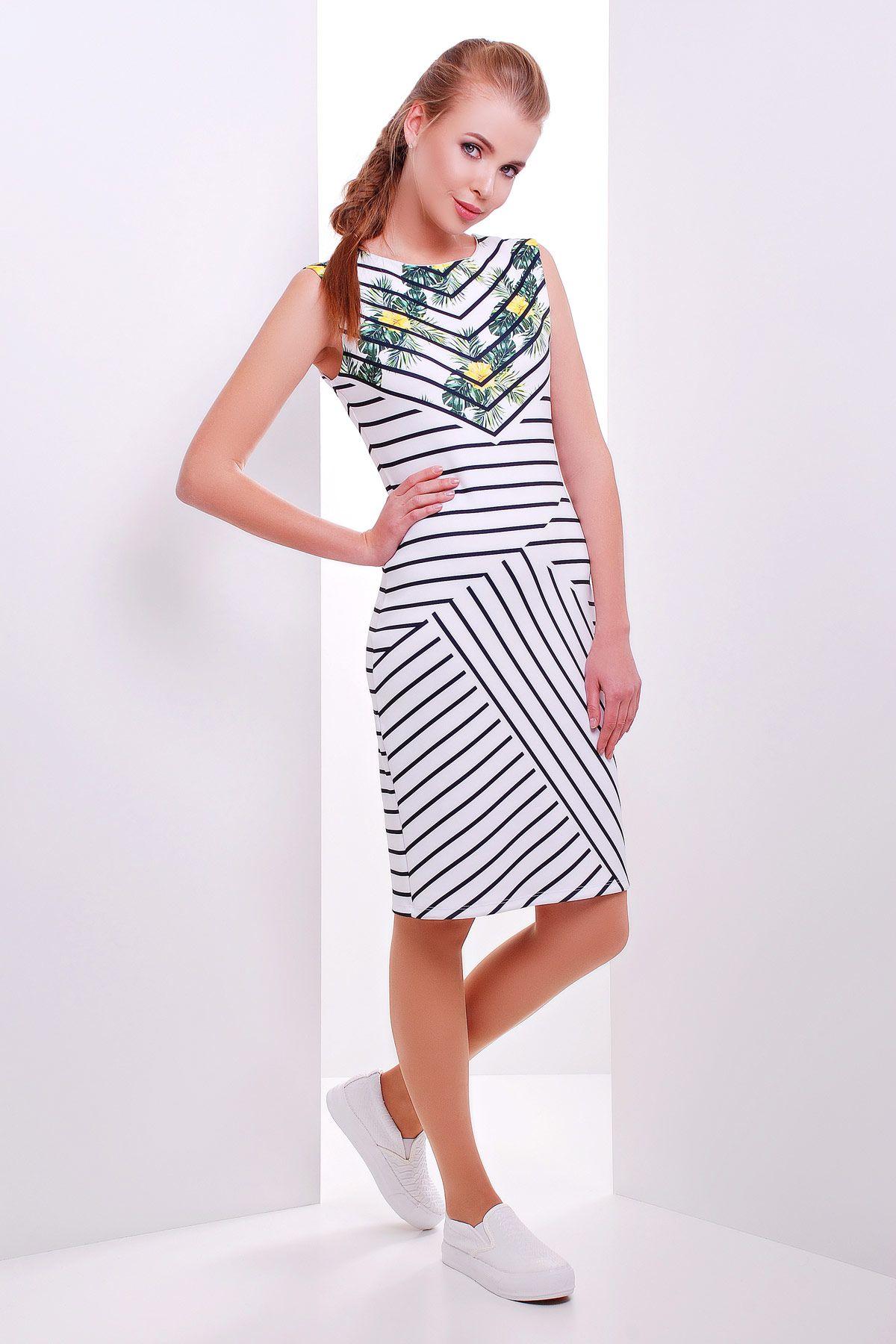 f9e62e0555605 летнее платье сарафан без рукавов в полоску. Полоска платье Калея-1 б/р
