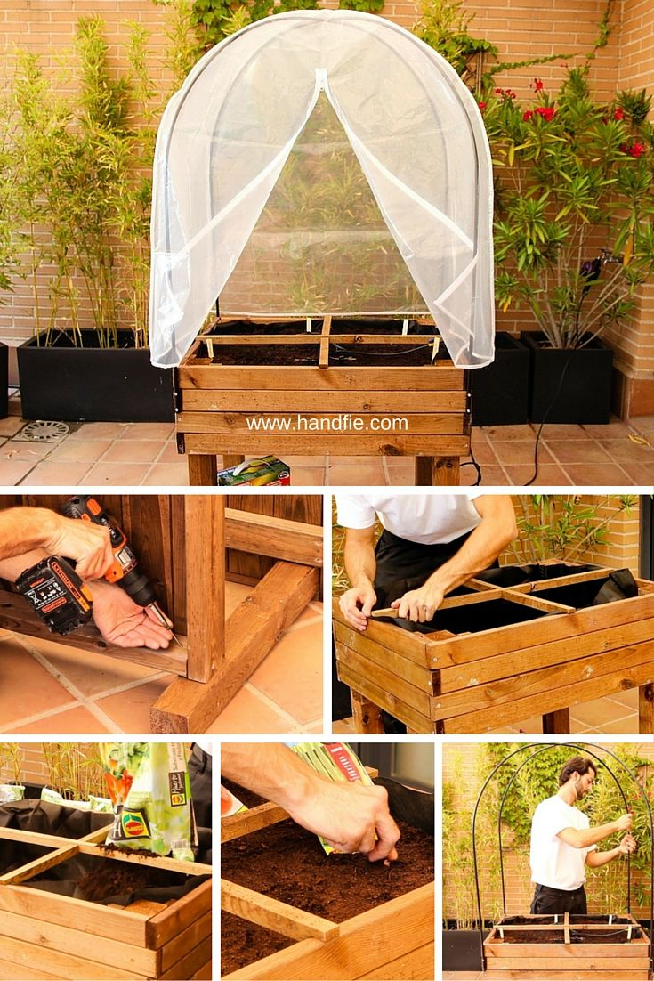 Mesa huerto urbano agricultura urbana vegetable garden garden y plants - Invernadero casero terraza ...