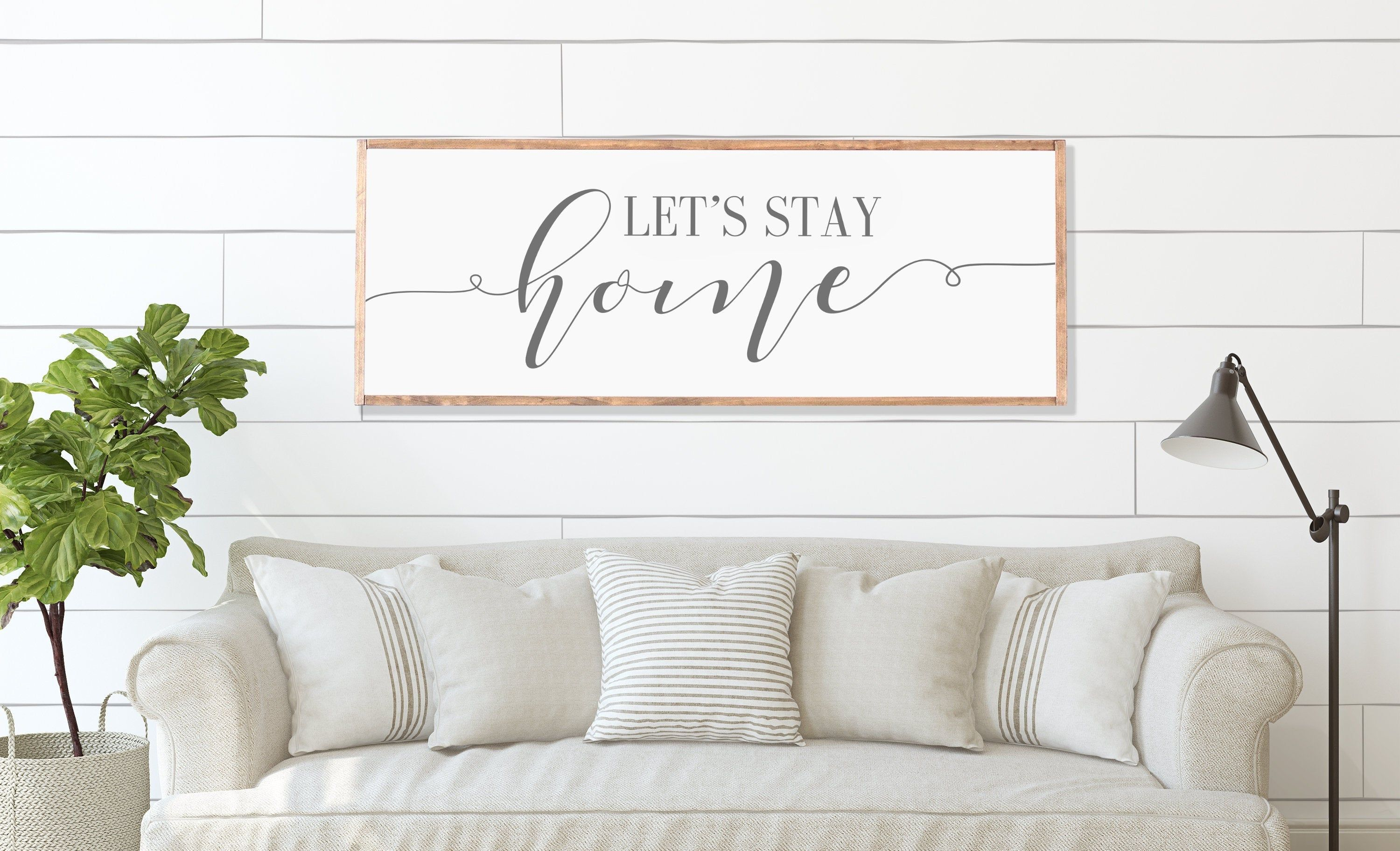 Let S Stay Home Sign Family Room Sign Living Room Signs Etsy Home Wooden Signs Lets Stay Home Bedroom Signs