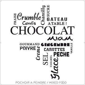 Pochoir Taille M Mixed Food Maison Deco Pochoir Sticker