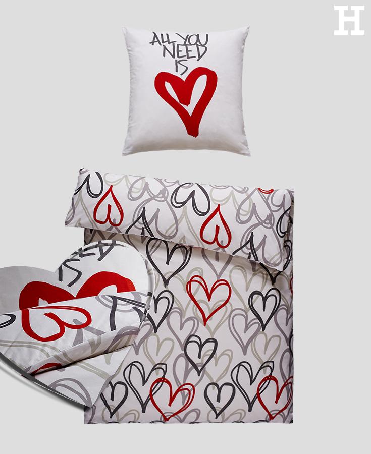 all you need is love bettw sche f r verliebte. Black Bedroom Furniture Sets. Home Design Ideas