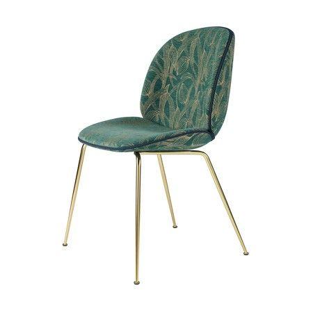 Gubi Beetle Chair Stuhl Stoff Und Gestell Messing Stuhl Stoff Esszimmerstuhl Polsterstuhl