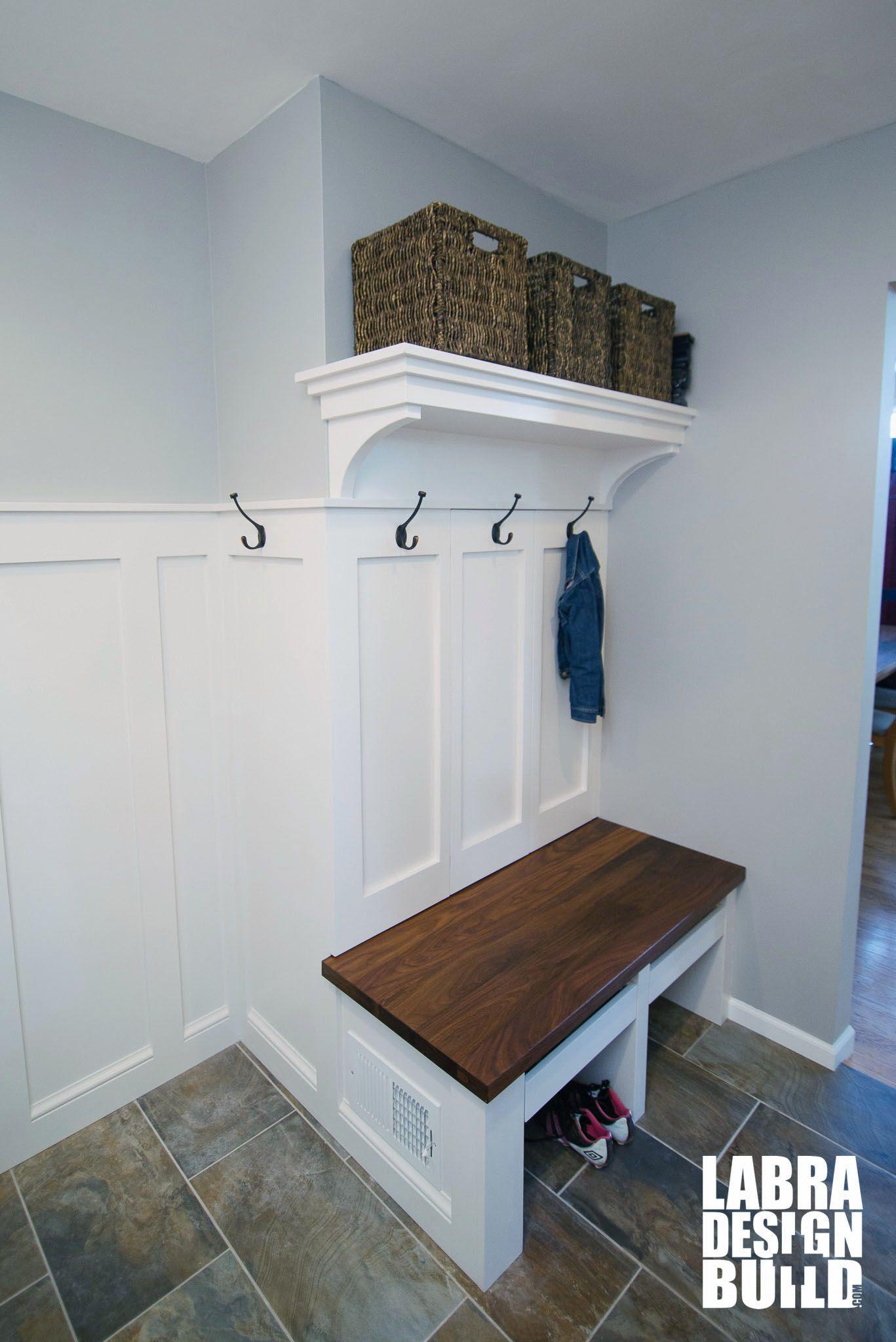 Small space mudroom & laundry remodel in Novi, MI features custom ...