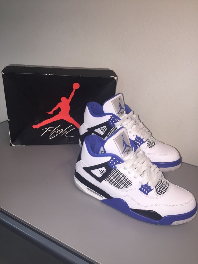 10298906eab Air Jordan 4 Retro 'Motorsport' DS White/Game Royal-Black Men's Sz ...