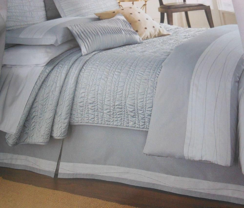 Blissful Dreams Twilight King Duvet Cover Blue Embroider Stripes