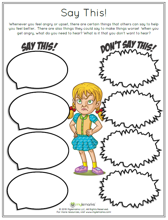 photograph about Anger Management Printable Worksheets known as Anger, coping capabilities, anger regulate, little ones 3rd Quality