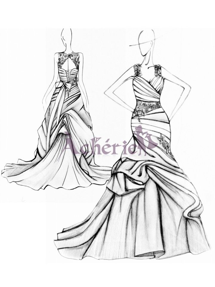 sirène robe de mariée , acherie