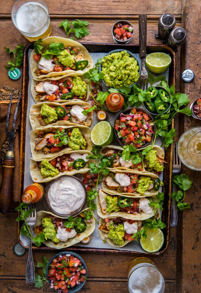 loaded grilled chicken tacos l dennistheprescott.com #mexicancooking