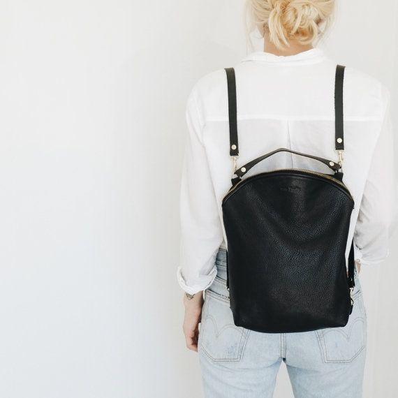 lederrucksack, hipster rucksack, schwarzer rucksack, kleiner, Attraktive mobel