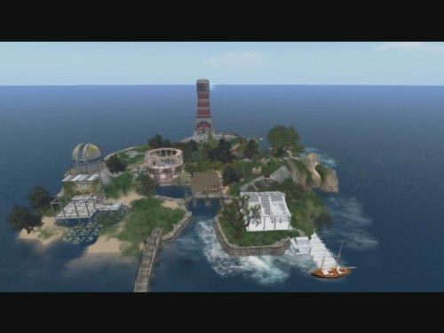 Sotungin etälukio on Second Life