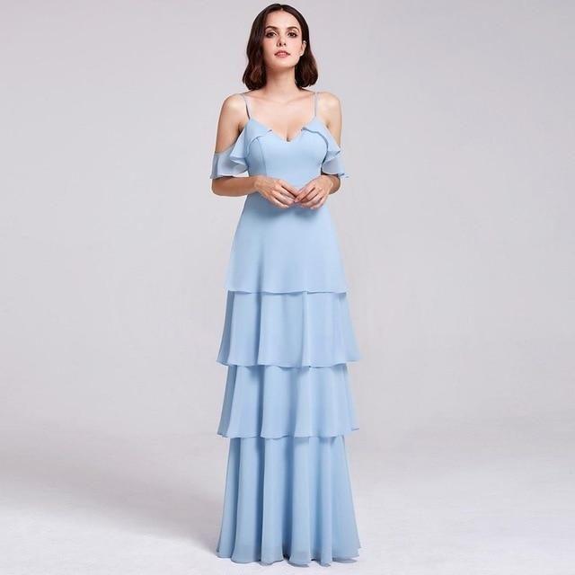 Bridesmaid Dresses Ever Pretty V-neck Ruffles Adjustable Spaghetti Str – US  MART NEW YORK 26ca8f42b025