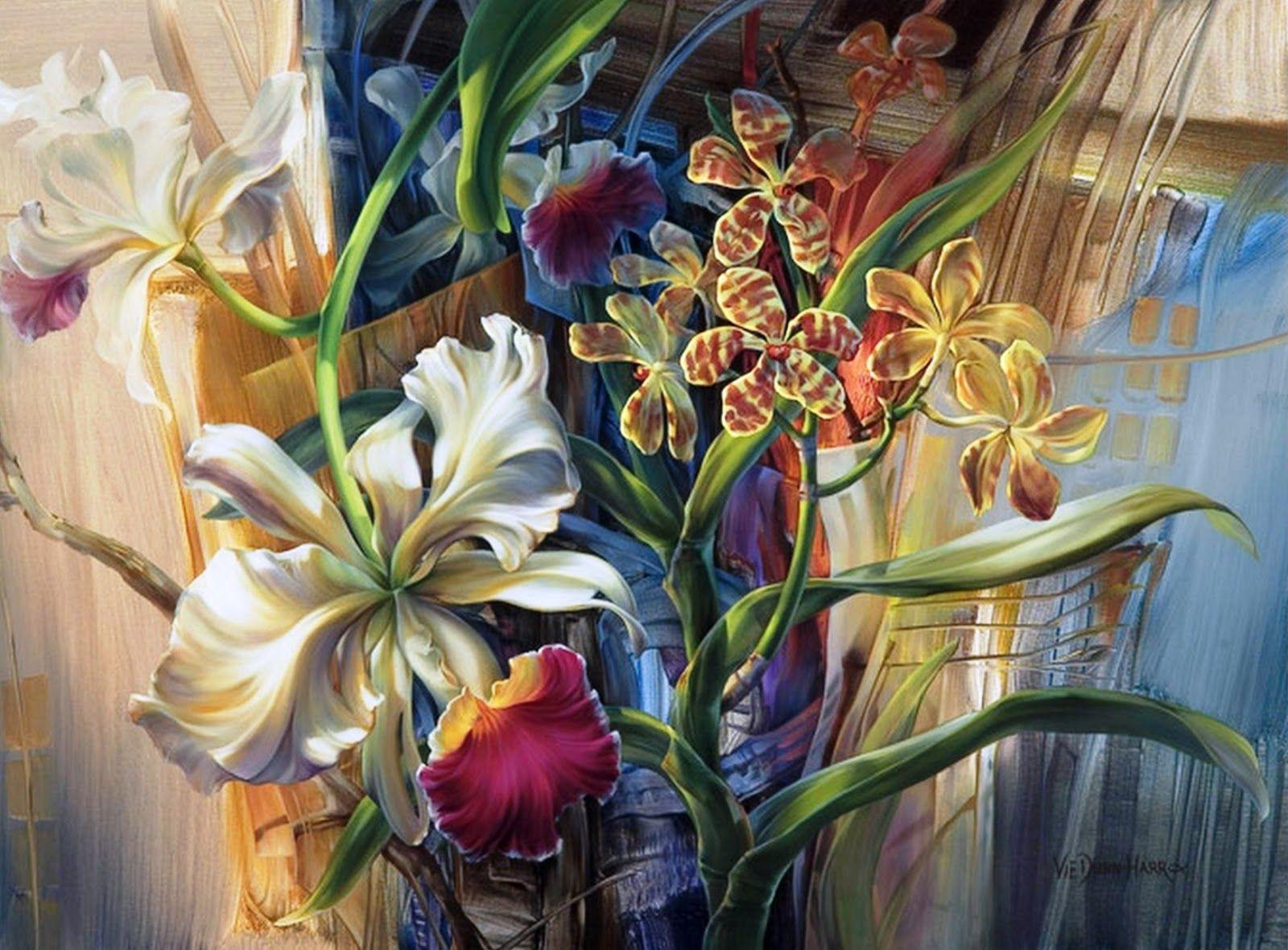 Galer a de cuadros con flores modernas vie dunn harr - Cuadros flores modernas ...