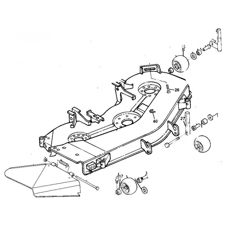 John Deere OEM 54 inch Mower Deck Shell Fits 425 445 and 455 – John Deere 425 Engine Diagram