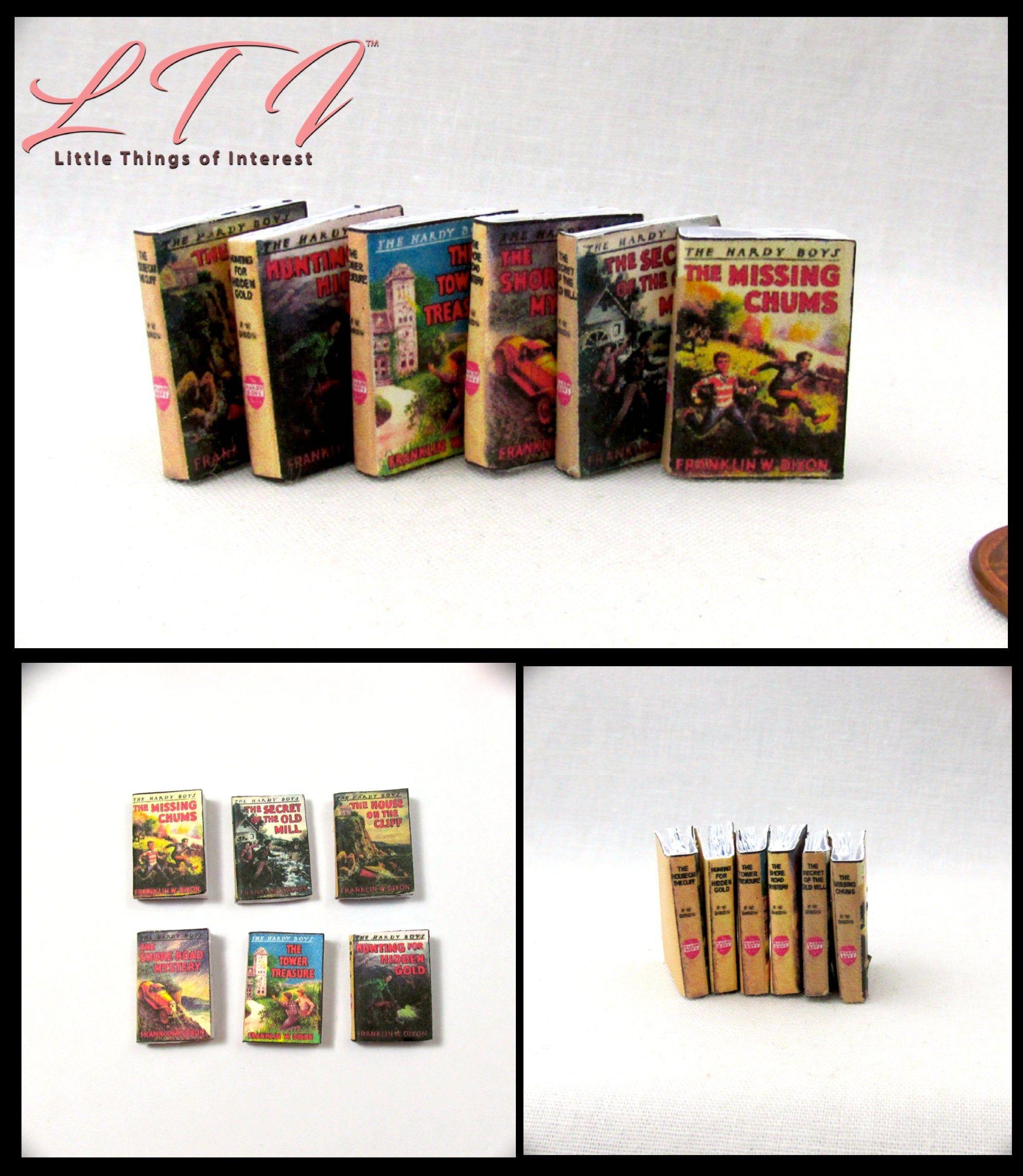 6 the hardy boys books set miniature books dollhouse 112