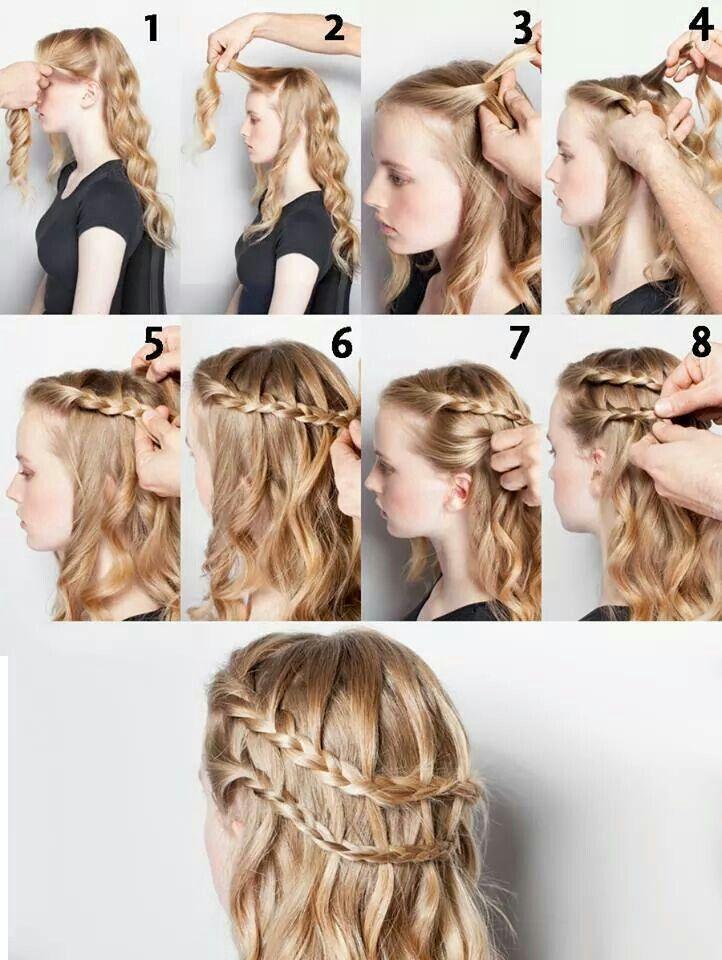 Trenza Doble Peinados Para Cabello Ondulado Peinados Poco Cabello Peinados Faciles Pelo Corto