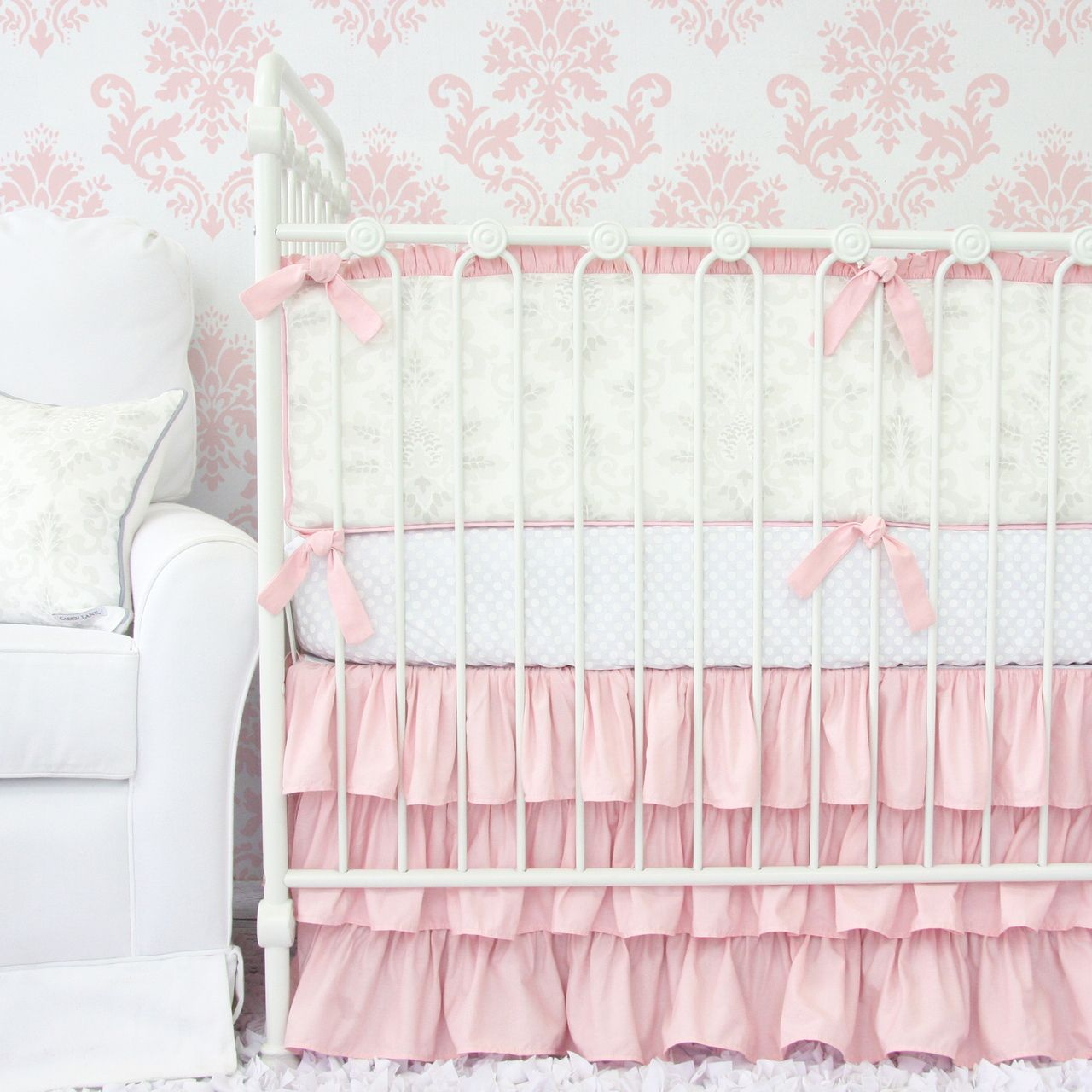 Soft And Elegant Gray And Pink Nursery: Pink With Hint Of White And Gray! Perfect For The Soft