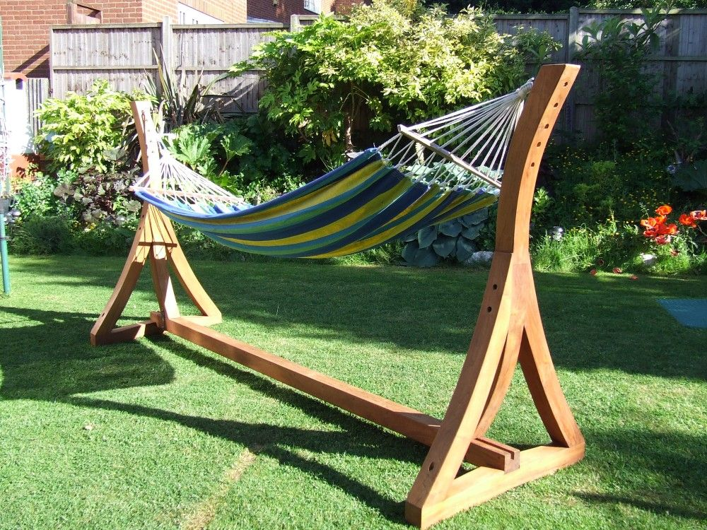 wooden hammock stand diy google search