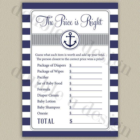 nautical baby nautical theme baby shower games boy shower game ideas