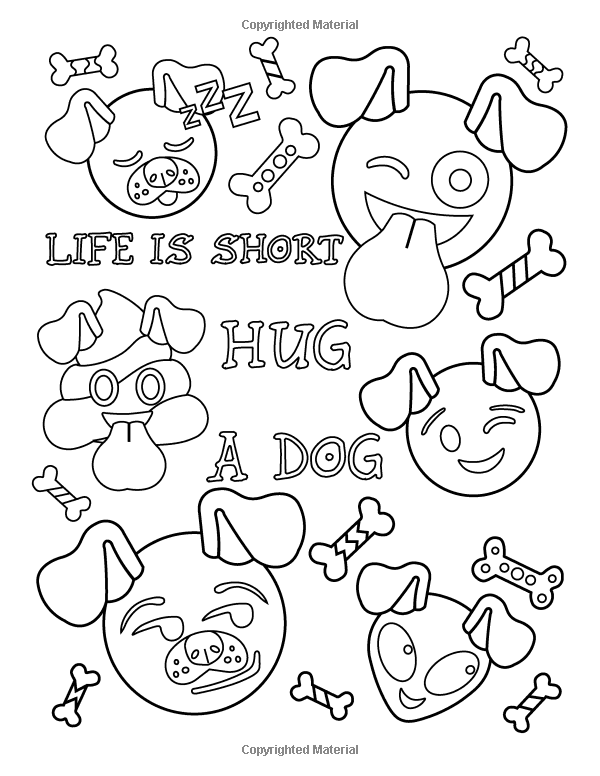 emoji coloring book of funny stuff cute faces and inspirational quotes 30 awesome designs for boys girls teens adults